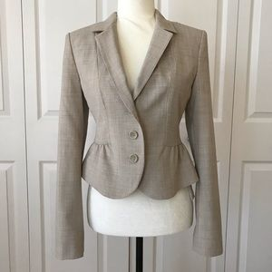 Express Beige Blazer 3 Buttons Career Tag $138